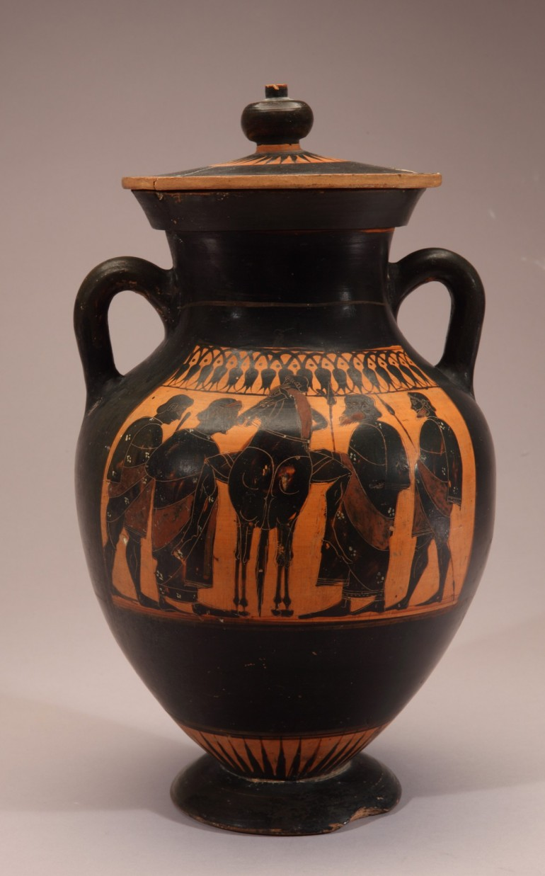Black-Figure Vase: Warriors