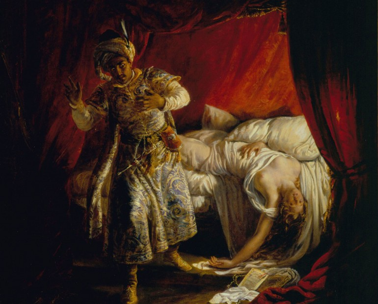 Otello and Desdemona by Alexandre-Marie Colin, 1829