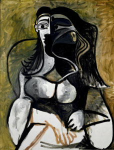 Woman in an Armchair (Jacqueline Roque Picasso)