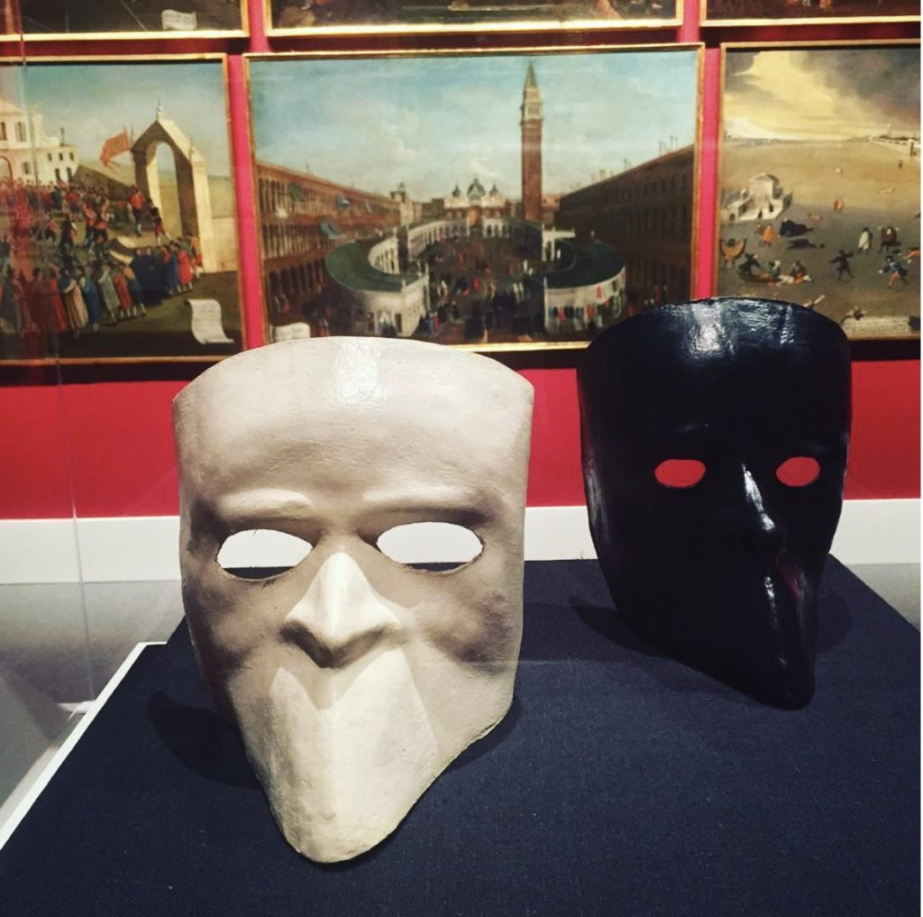 Two Bauta Masks