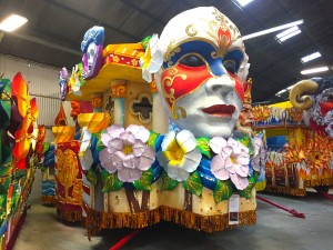 The Venice Carnevale float in the 2017 Rex parade is one of 26 themed after Carnival celebrations around the world.