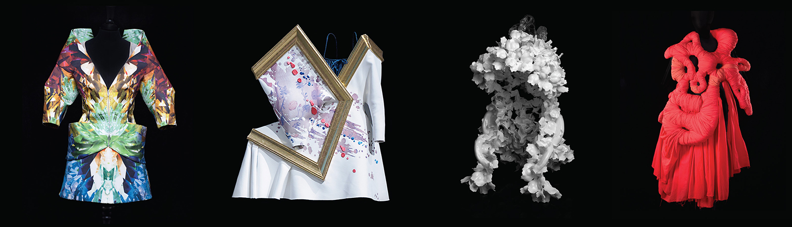 Alexander McQueen, Iris van Herpen, and Gucci are among the designers represented in NOMA's first fashion exhibition, on view through May 28th.