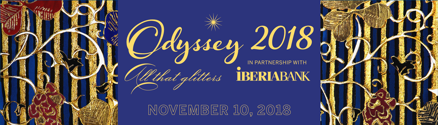 The 2018 Odyssey Ball on Saturday, November 10, features dining, dancing, a silent auction, and a jewelry raffle.