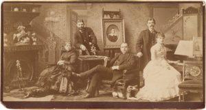 Alva Pearsall (American, 1839–1893), <em>Formal Portrait of a Family Group</em>, c. 1885, Albumen print, Museum purchase, General Acquisitions Fund, 82.170