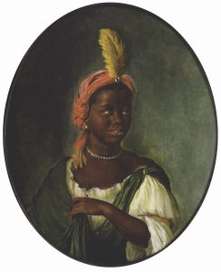 Willem van Mieris (Dutch, 1662–1747), <em>An African Woman</em>, c. 1710–1715. Oil on panel 7 1⁄16 x 5 13⁄16 in., Alvin and Carol Merlin Acquisition Fund and the De-accession Fund, 2018.1