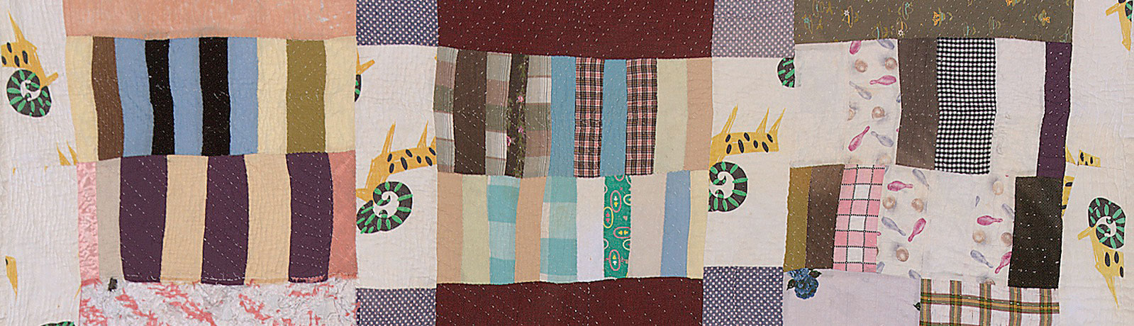 From a remote community in rural Alabama comes a remarkable African American quilting tradition renowned for free-spirited patterning.