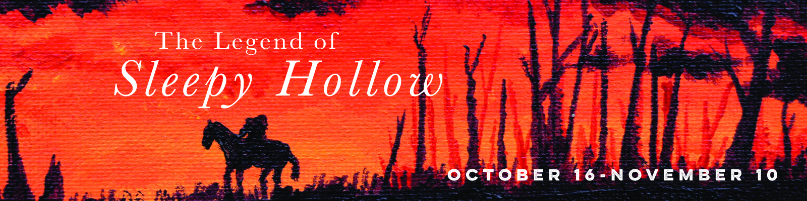 For thirteen select nights through November 10th, the Headless Horseman will star in a horrifically hilarious twist on a timeless classic.