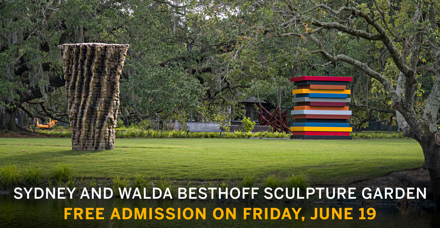 We invite you to the Sculpture Garden as a space of peace and reflection, now open Wednesday through Sunday.